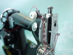 画像1: ★簡単取付 アンティークミシン用 プリテンション 革/太い糸 送料無料