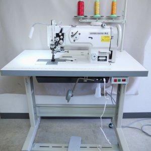 画像1: 2本針本縫い 総合送り平ミシン レザークラフターLC1560 DCモーター付